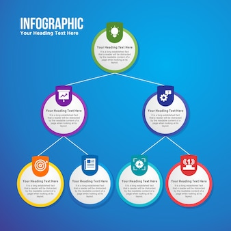 Hierarchical business infographic template