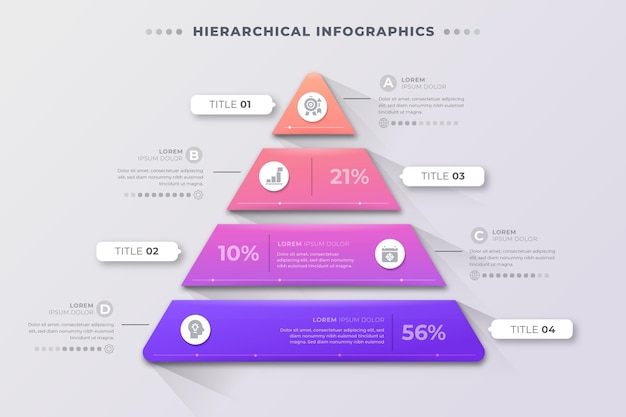 Hierarchical business infographics