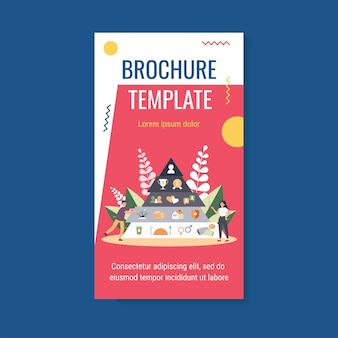 Hierarchy pyramid brochure template