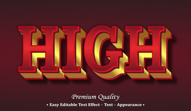 High 3d font style effect