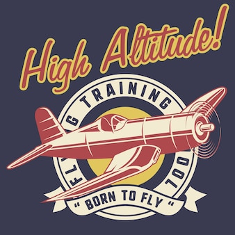 High altitude classic airplane