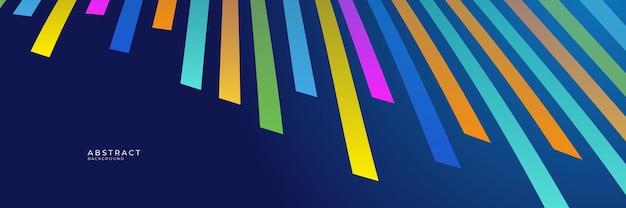 高コントラストの青とカラフルな未来的な企業の背景