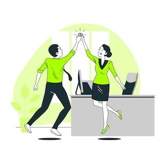 High five concept illustration