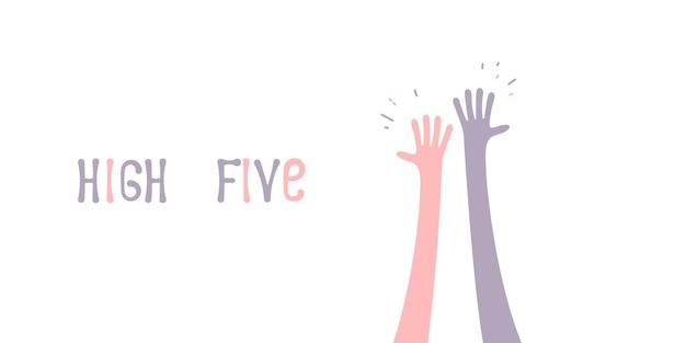 Дай пять значок простая иллюстрация