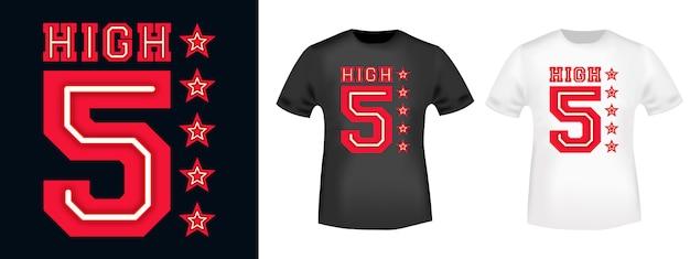 High five t-shirt print