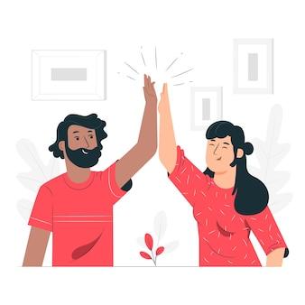High five концепция иллюстрации