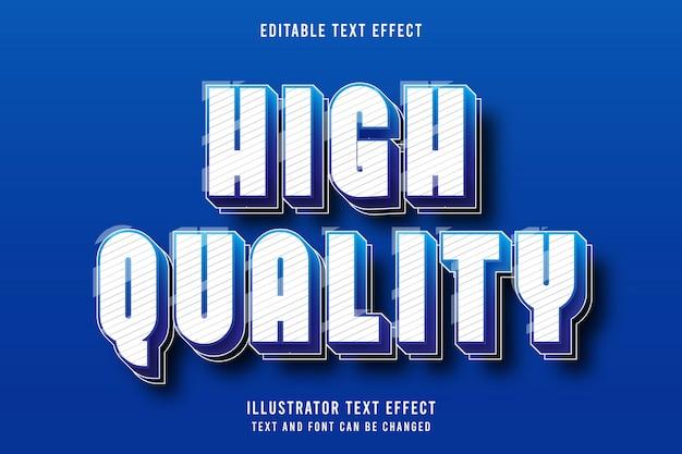 高品質、3 d編集可能なテキスト効果青いグラデーションモダンなシャドウスタイル