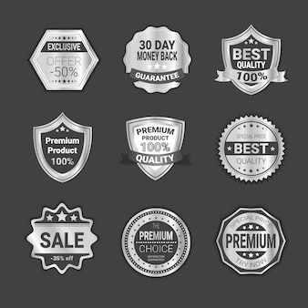 High quality badges or shields emblem set isolated