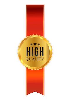 Знак золотой этикеткой высокого качества
