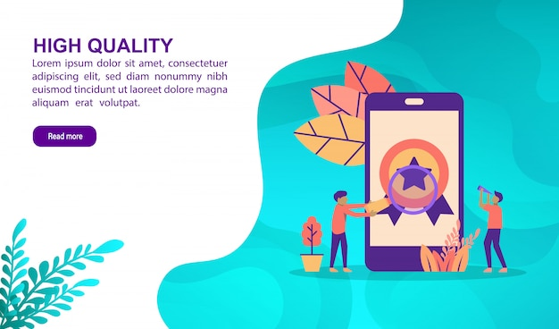 High quality illustration concept with character. landing page template
