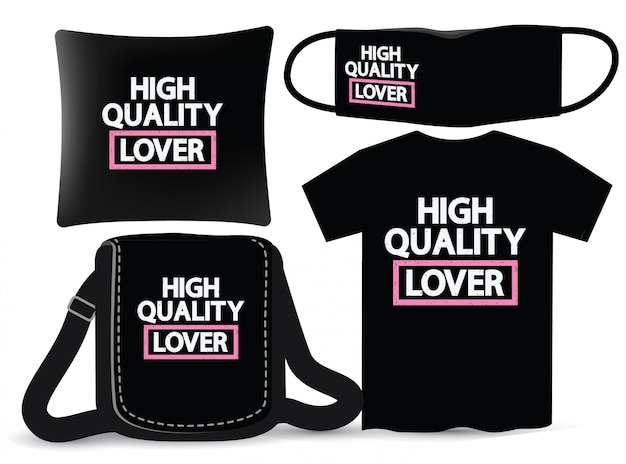 High quality lover lettering design for t shirt and merchandising
