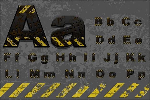 Высококачественный технический алфавит