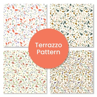 High quality terrazzo pattern set with rock shapes.