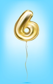 High quality vector image of gold balloon numbers