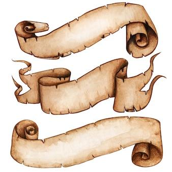 Винтажные акварельные свитки высокого качества