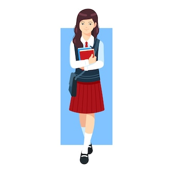 High school girl character