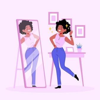High self-esteem illustration