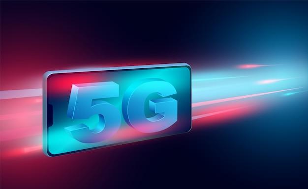 グローバルブロードバンドネットワークのモバイル上の高速インターネットコンセプトネットワーク速度等尺性