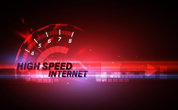 High speed internet on networking telecommunication