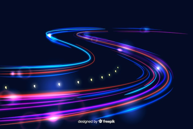 High speed lights trail background
