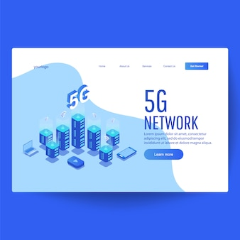 High-speed mobile internet landing page
