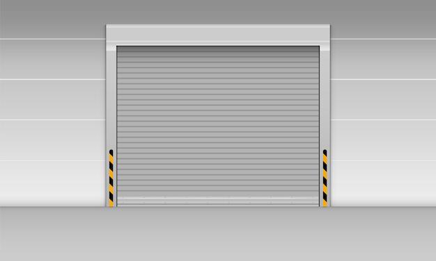 Скоростная раздвижная дверь склада., жалюзи.