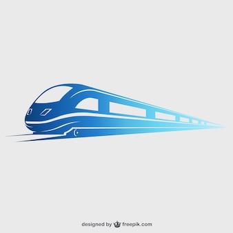 Высокоскоростной поезд Premium векторы