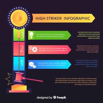 높은 스트라이커 infographic 배경