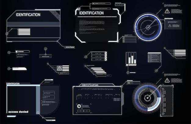 ビデオゲーム用のハイテク画面。サイエンスフィクションの概念。
