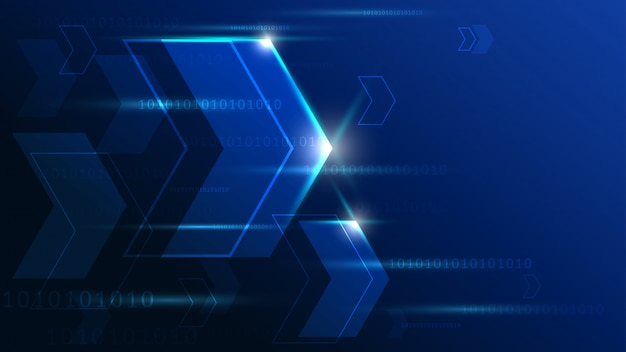 High tech technology geometric background
