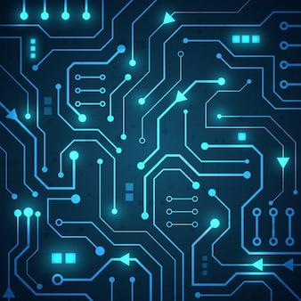 High tech technology geometric background
