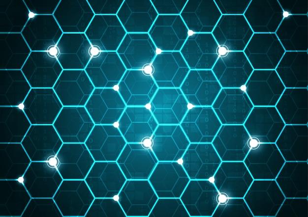 High tech technology geometric