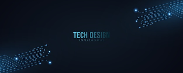 High technology abstract background with computer circuit