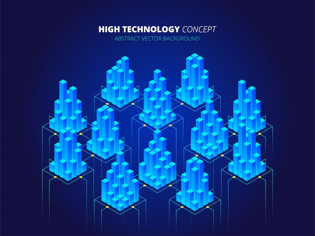 High technology background