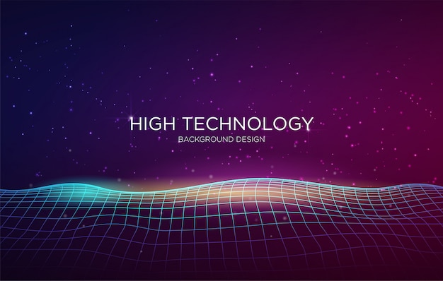 High technology cover background template