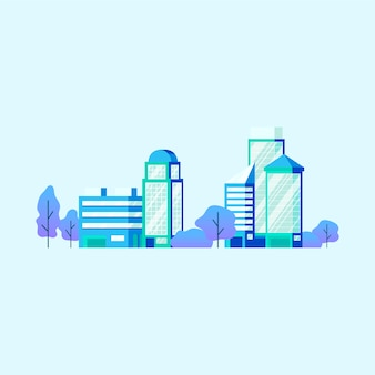 High technology office buildings vector