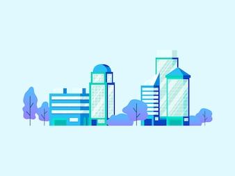 High technology office buildings vector