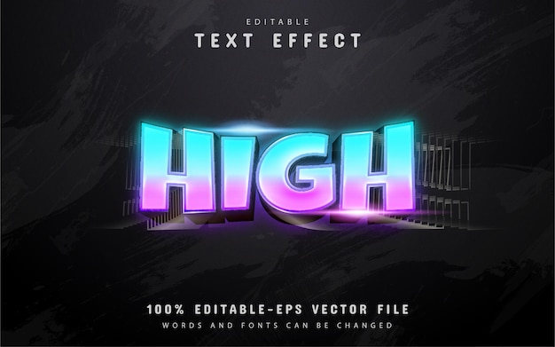High text, 3d gradient style text effect