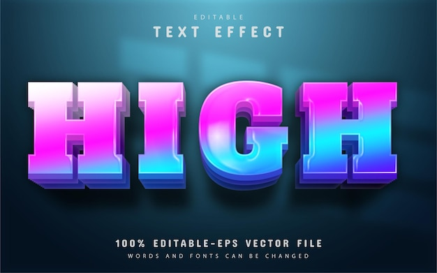 High text, colorful gradient text effect