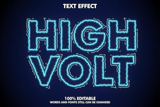 Текстовый эффект высокого напряжения, электрический эффект шрифта