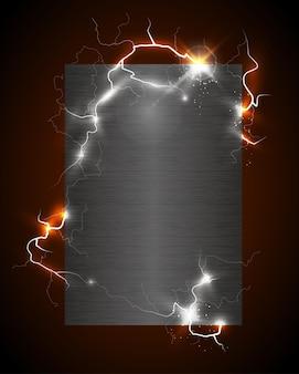 高電圧のつや消しメタルポスター
