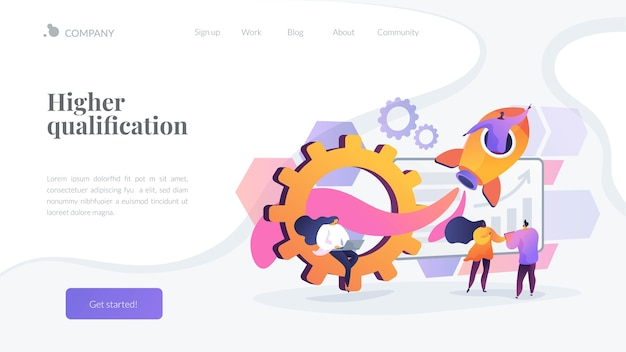 Higher qualification landing page template