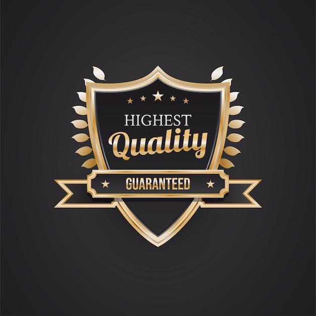 ブラックとゴールドのシールドが付いた最高品質のバッジ