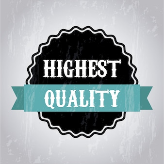 Highet quality over gray background vector illustration