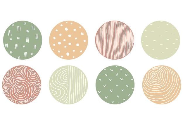 Выделите набор обложек, абстрактные значки для социальных сетей. векторная иллюстрация