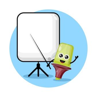 Маркер становится логотипом талисмана учителя