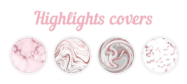 Highlights covers golden marble set