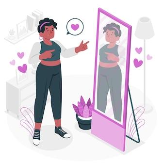 Hight self-esteem concept illustration