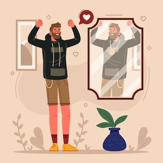 Hight self-esteem illustration