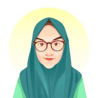 Hijab girl simple  illustration